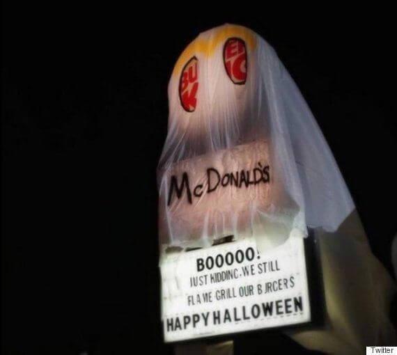 バーガーキングがマクドナルドのおばけに