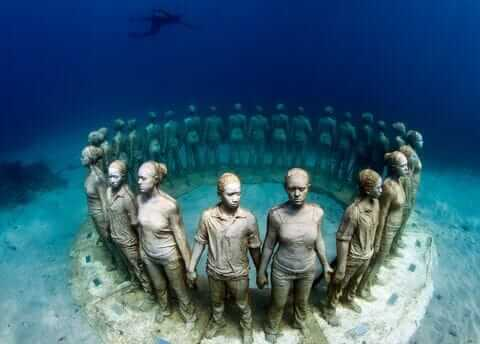 メキシコ・カンクン海底美術館
