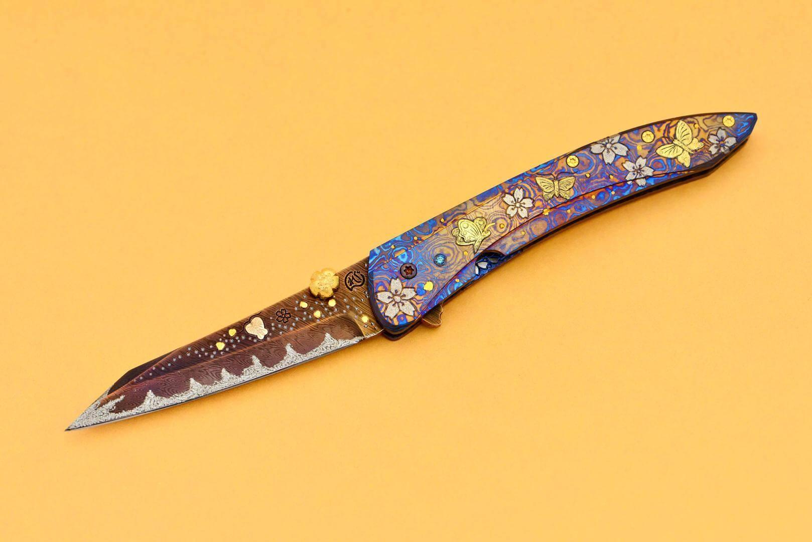和柄を越えた花魁ナイフ