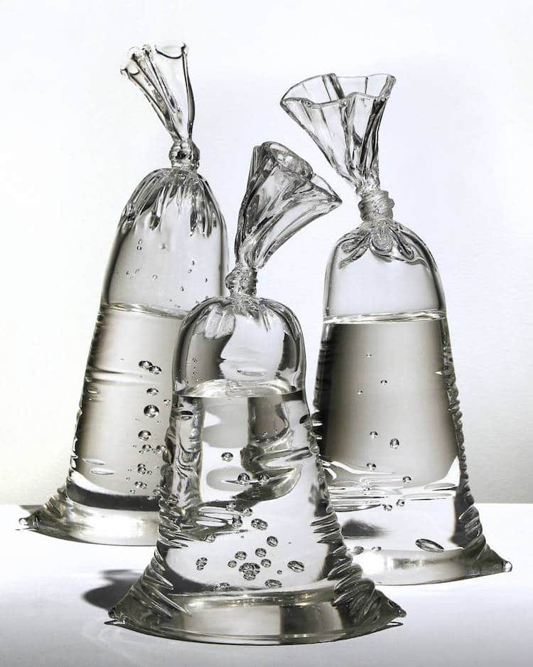 water-bag-glass-sculptures