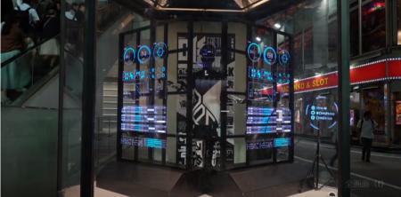 3D Phantomを使った3Dホログラム看板