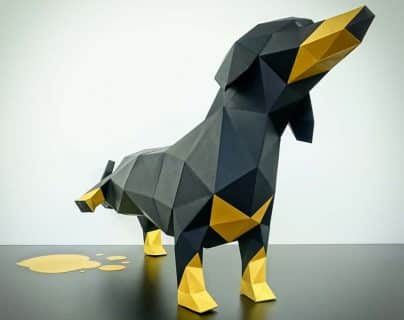 Papertrophyの犬のペーパークラフト