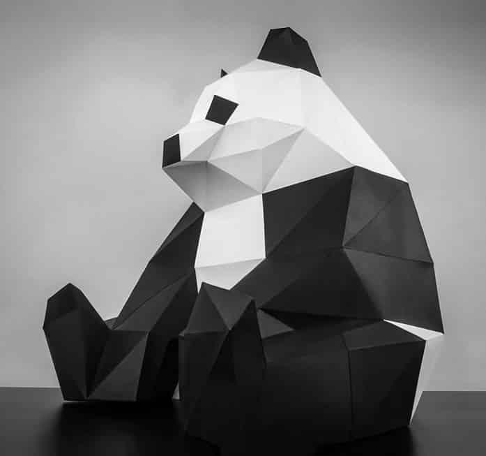 Papertrophyのパンダのペーパークラフト