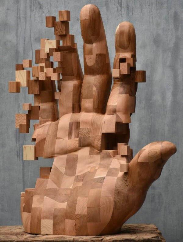 Hsu Tung Hanのグリッチ彫刻作品「再見 farewell」