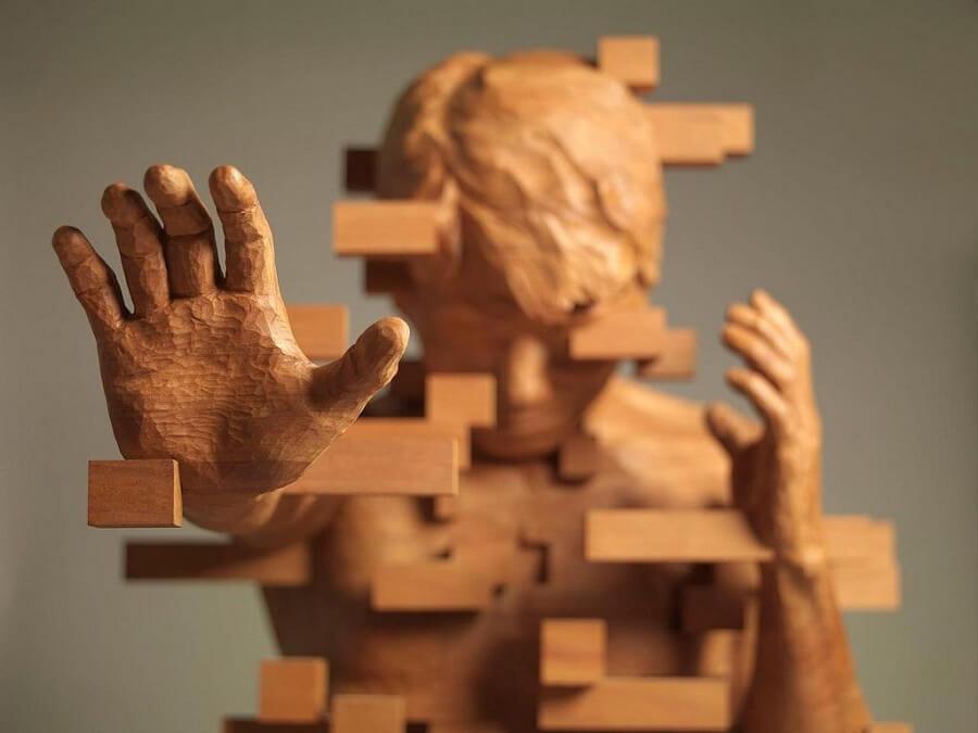 Hsu Tung Hanのグリッチ彫刻作品「解散‧集合」