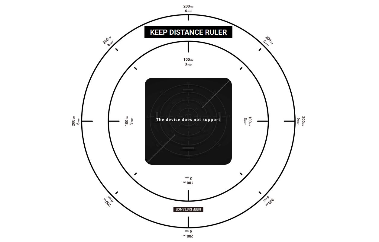 【Keep Distance Ruler】アプリでソーシャルディスタンスに必要な2mを測るAR定規