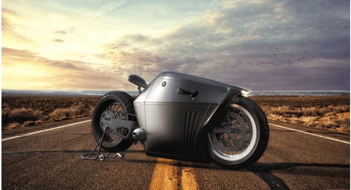 近未来を予感させるスタイリッシュなバイク[Radical Concept]