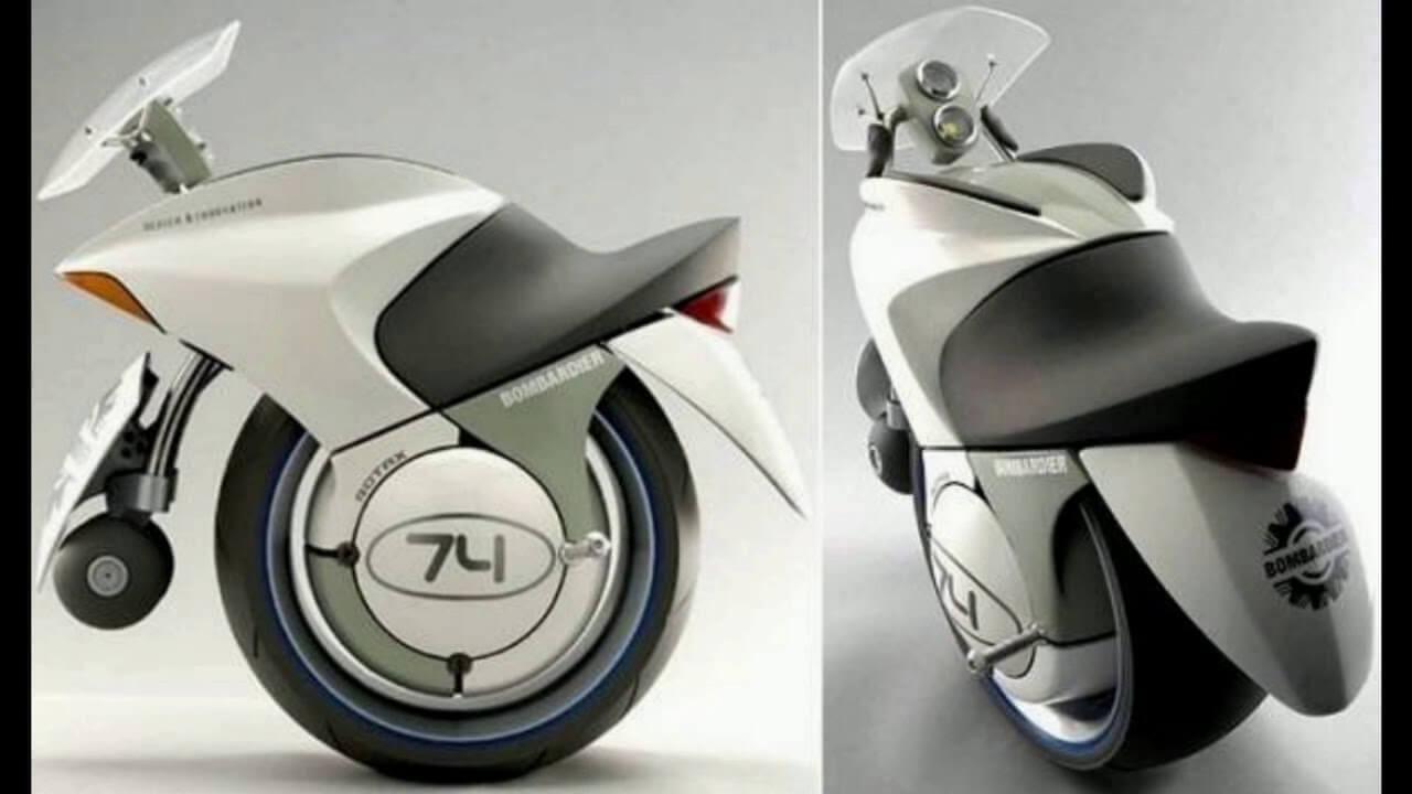 近未来を予感させるスタイリッシュなバイク[Bombardier-Embrio]