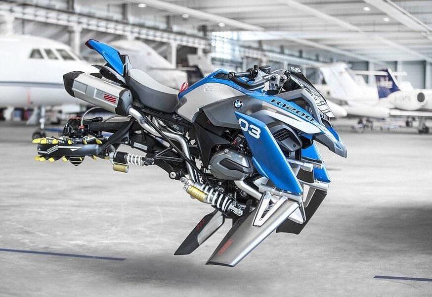 近未来を予感させるスタイリッシュなバイク[BMW R 1200 GS Adventure bike concept]
