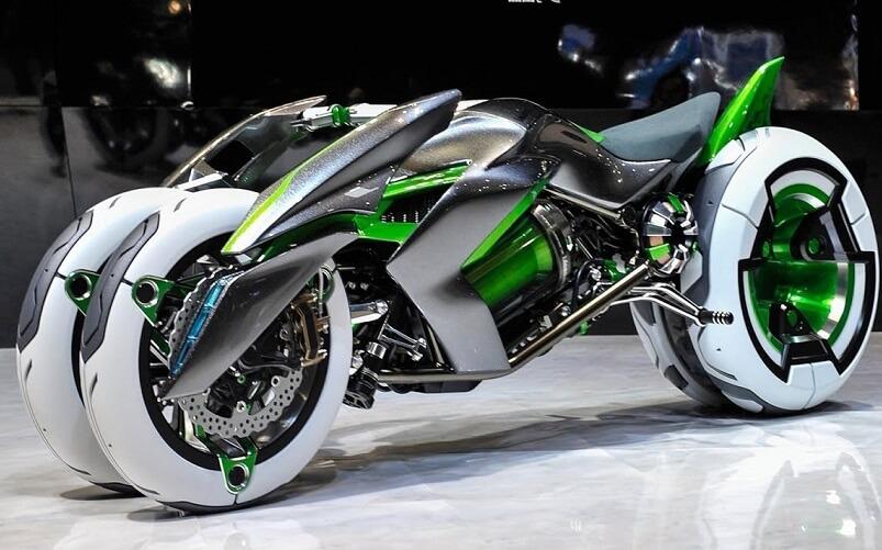 近未来を予感させるスタイリッシュなバイク[カワサキ 三輪電動ビークル「J」]