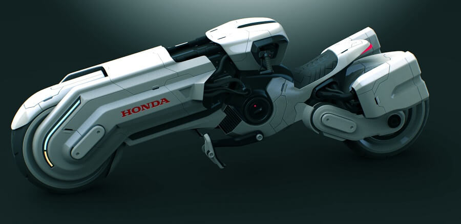近未来を予感させるスタイリッシュなバイク[honda chopper]