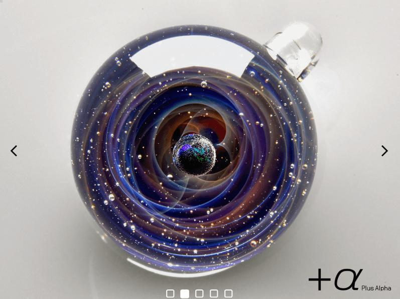 プラスアルファの宇宙ガラス(ブラックオパール)