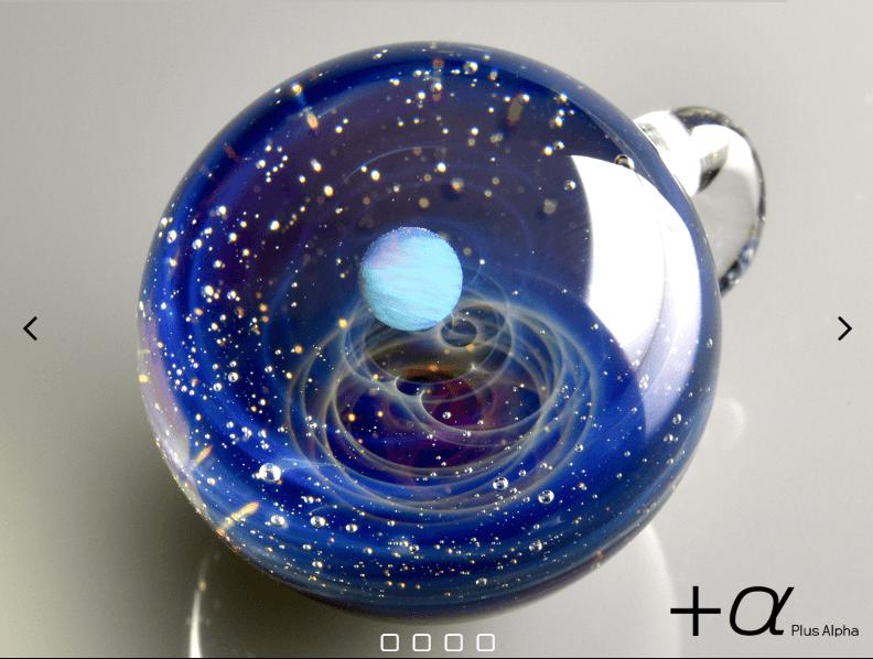 プラスアルファの宇宙ガラス(ホワイトオパール)